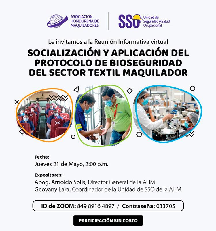 AHM: Socializa protocolo de bioseguridad con más de 100 gerentes