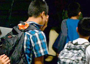 La mayoría de los menores fueron recibidos por las autoridades en la ciudad de San Pedro Sula.