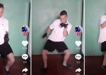 """Esdras Samuel Laínez Berríos, sabe que se volvió viral por su baile playero del """"tra tra"""" y volvió a subir otro video tras ser dado de baja deshonrosa de las FF. AA."""