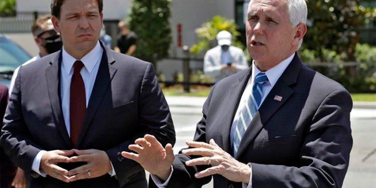 Ron Di Santis y Mike Pence