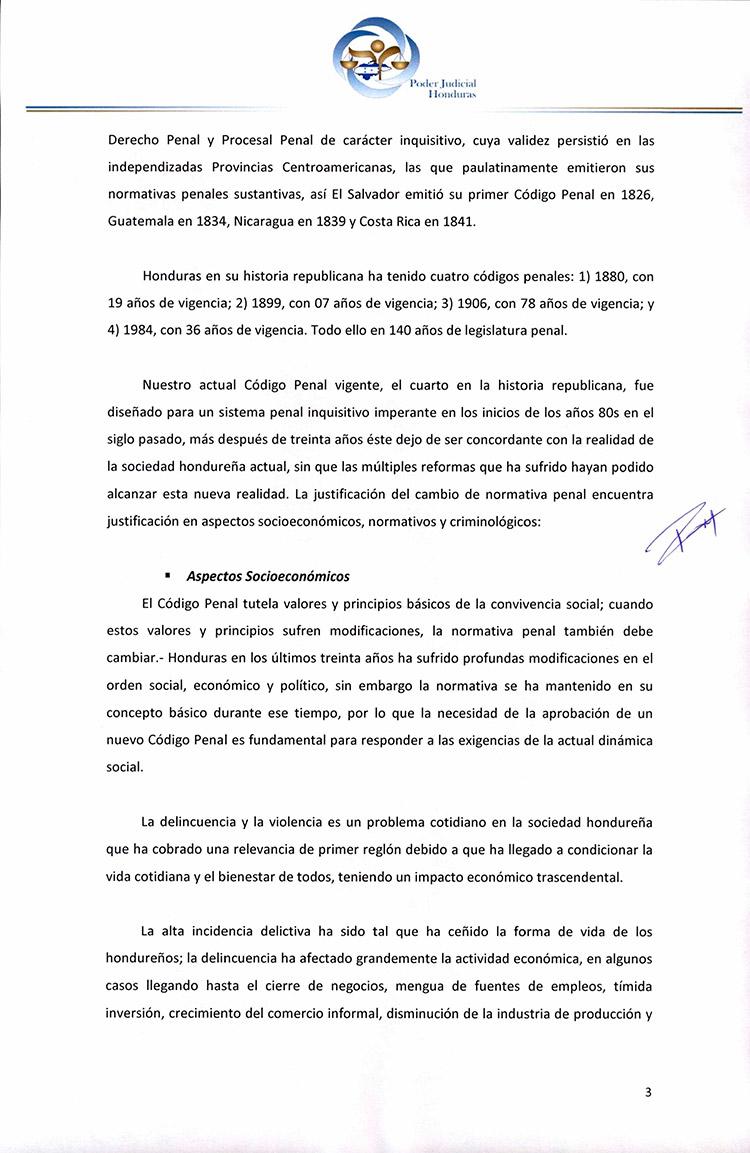 CSJ opina que no se aprueba ley de iniciativa ciudadana para que no entre en vigencia Código Penal