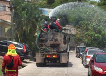 80 barrios y colonias desinfectadas