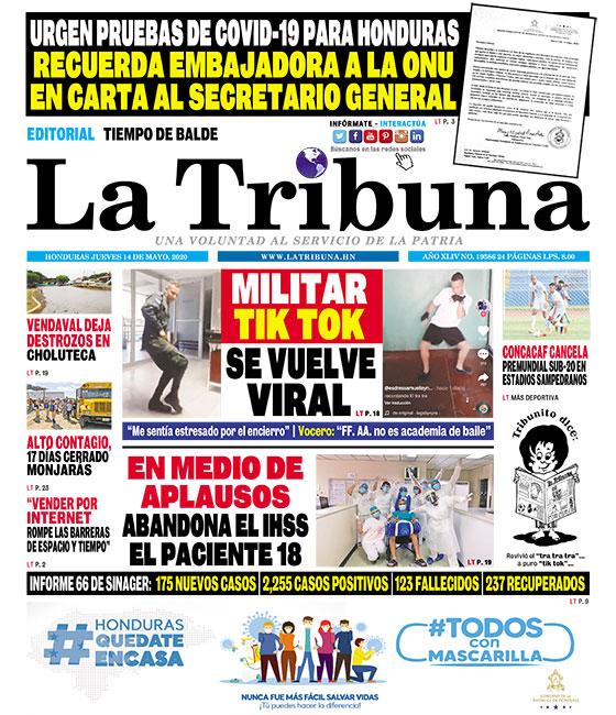 URGEN PRUEBAS DE COVID-19 PARA HONDURAS