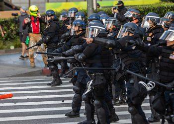 Unos 5,000 efectivos de la Guardia Nacional, un cuerpo en la reserva, han sido activados en 15 estados y en el Distrito de Columbia. (LASSERFOTO  AFP)