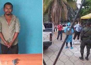 El nicaragüense Julio Miguel Pérez Obando cuando fue detenido por portación ilegal de arma.