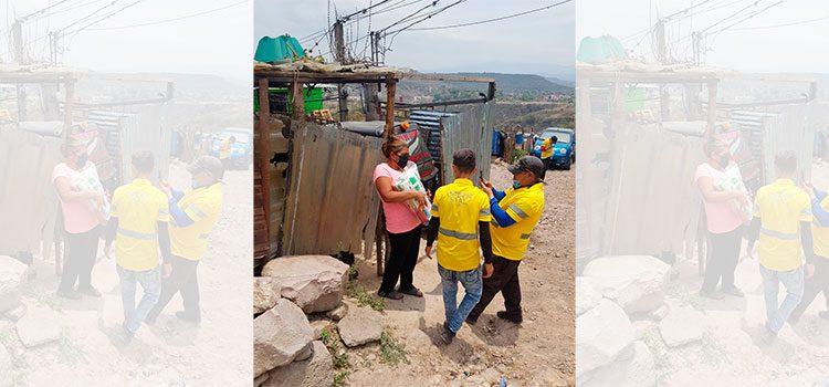 AMDC entrega alimentos en aldeas del sur de la capital