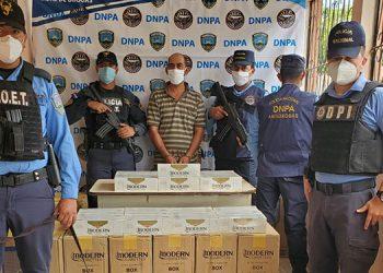 El detenido será remitido al Ministerio Público con las evidencias para continuar con el proceso legal en su contra.