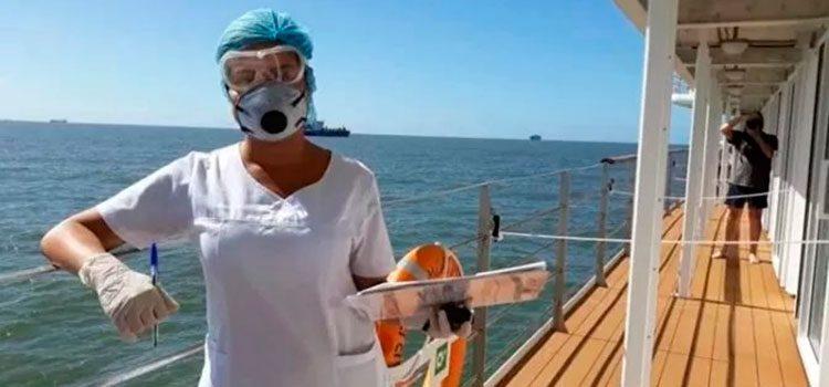 Angustioso llamado de marinos hondureños con COVID-19 en crucero varado en Punta del Este, Uruguay