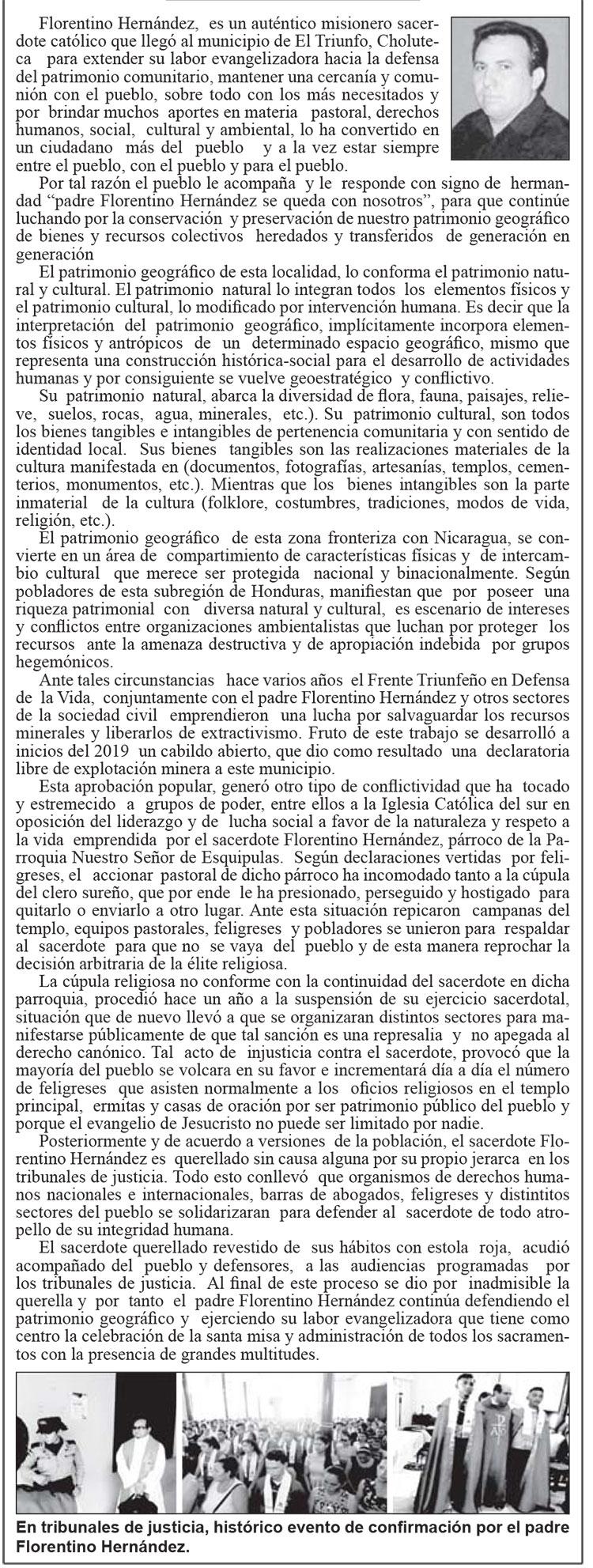 Padre Florentino Hernández. Un defensor del patrimonio geográfico