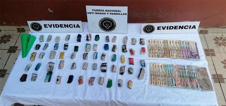Dos detenidos y droga decomisada deja fuerte operativo en Choluteca
