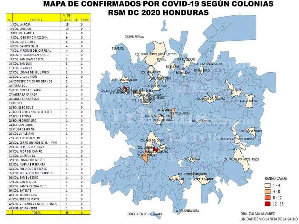 Suben a 43 los barrios y colonias con casos positivos de COVID-19 en la capital