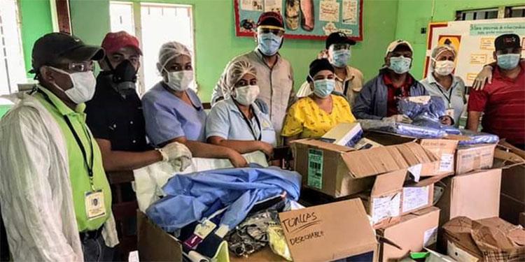 La diputada Aída Reyes ha hecho donaciones en más de 20 centros de atención médica.