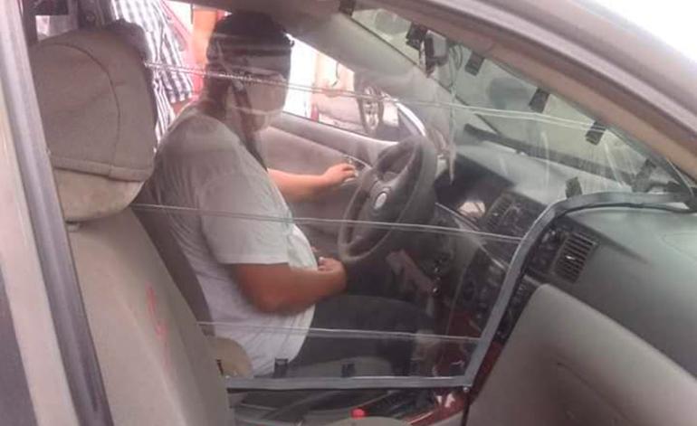 Taxistas de Choluteca en lugar de protestar, se las ingenian con <a href=
