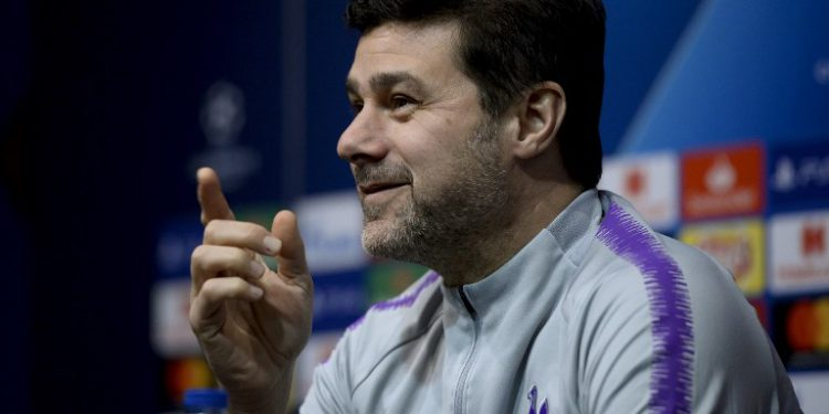 Tottenham Hotspur's Argentinian coach Mauricio Pochettino gives a press conference at the Camp Nou stadium in Barcelona on December 10, 2018 on the eve of the UEFA Champions League group B football match FC Barcelona against Tottenham Hotspur. (Photo by Josep LAGO / AFP)