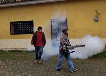 Autoridades y pobladores de La Virtud, Lempira, trabajan en limpieza y fumigación en barrios, aldeas y caseríos, igual que en la mancomunidad Mocalempa.