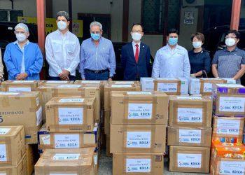 KOICA en la entrega de donativos quirúrgicos para atender la emergencia por COVID-19.