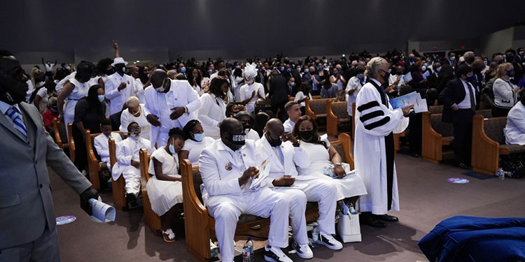 Ceremonia fúnebre de George Floyd en Houston.