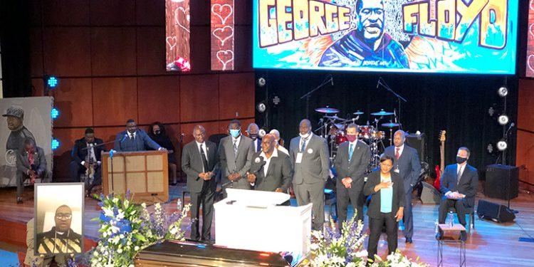 Ceremonia en homenaje a George Floyd en Minneapolis