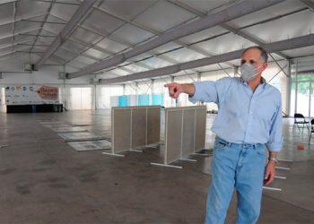 Instalan centro de triaje en Bazar del Sábado en bulevar Juan Pablo II