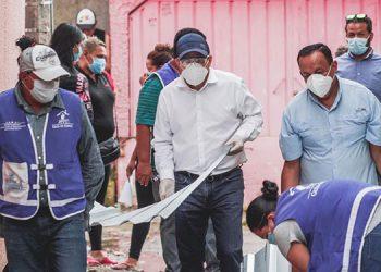 Autoridades de gobierno, diputados y particulares fueron instados por Renán Inestroza a extenderle la mano a las personas afectadas por las lluvias.