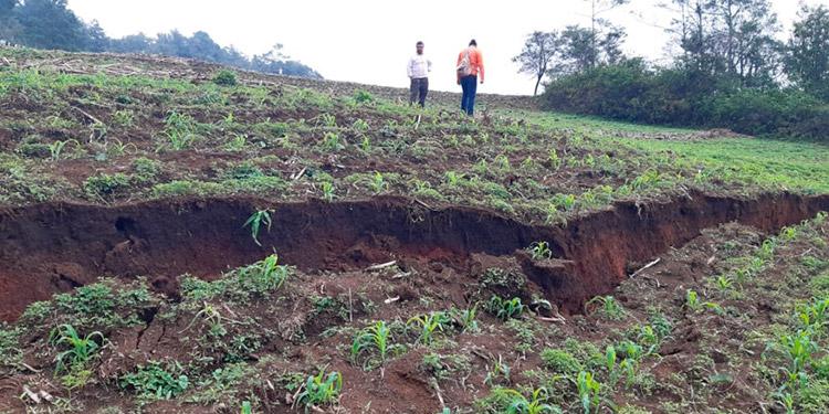 Aguaceros derrumban ermita y paredes de varias viviendas