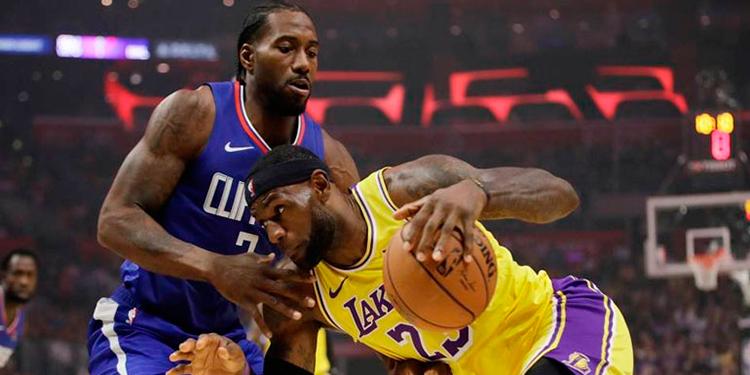 Lakers y Clippers se enfrentarán en reanudación de temporada NBA