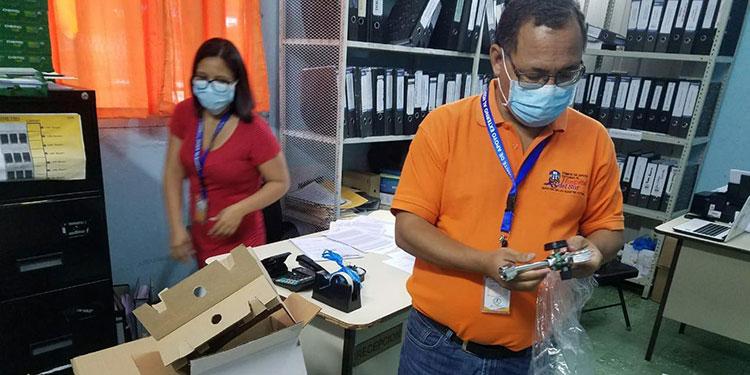 Los 11 manómetros fueron donados por el Comité de Apoyo Externo del Hospital General del Sur con fondos del BID.