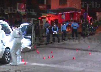 Dos muertos y dos heridos deja tiroteo a microbús en Comayagüela