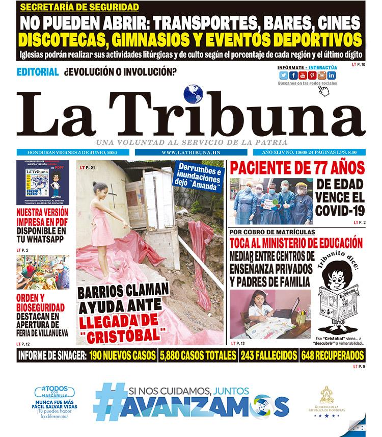 BARRIOS CLAMAN AYUDA ANTE LLEGADA DE ¨ CRISTÓBAL¨