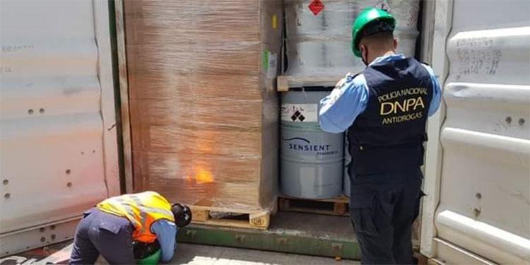 El producto químico será retenido en los predios de ARSA, para verificar que la documentación de la empresa importadora sea la correcta.