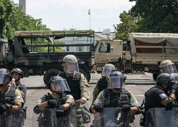 El secretario de Defensa de EE.UU., Mark Esper, rechazó el empleo de tropas en activo para contener la ola de protestas en el país. (LASSERFOTO AFP)