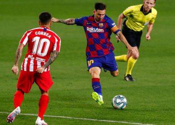 Barcelona empata con Atlético de Madrid y sigue cediendo terreno