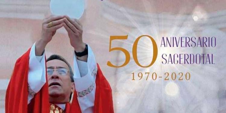Con homilía cardenal Rodríguez celebra 50 años de sacerdocio