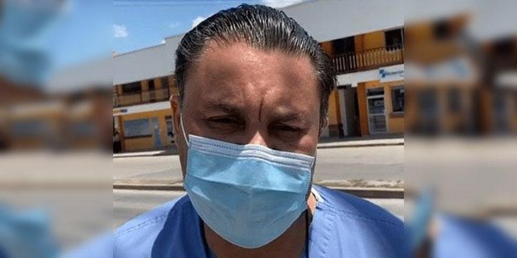 Carlos Umaña, presidente de la Asociación de Médicos del IHSS.