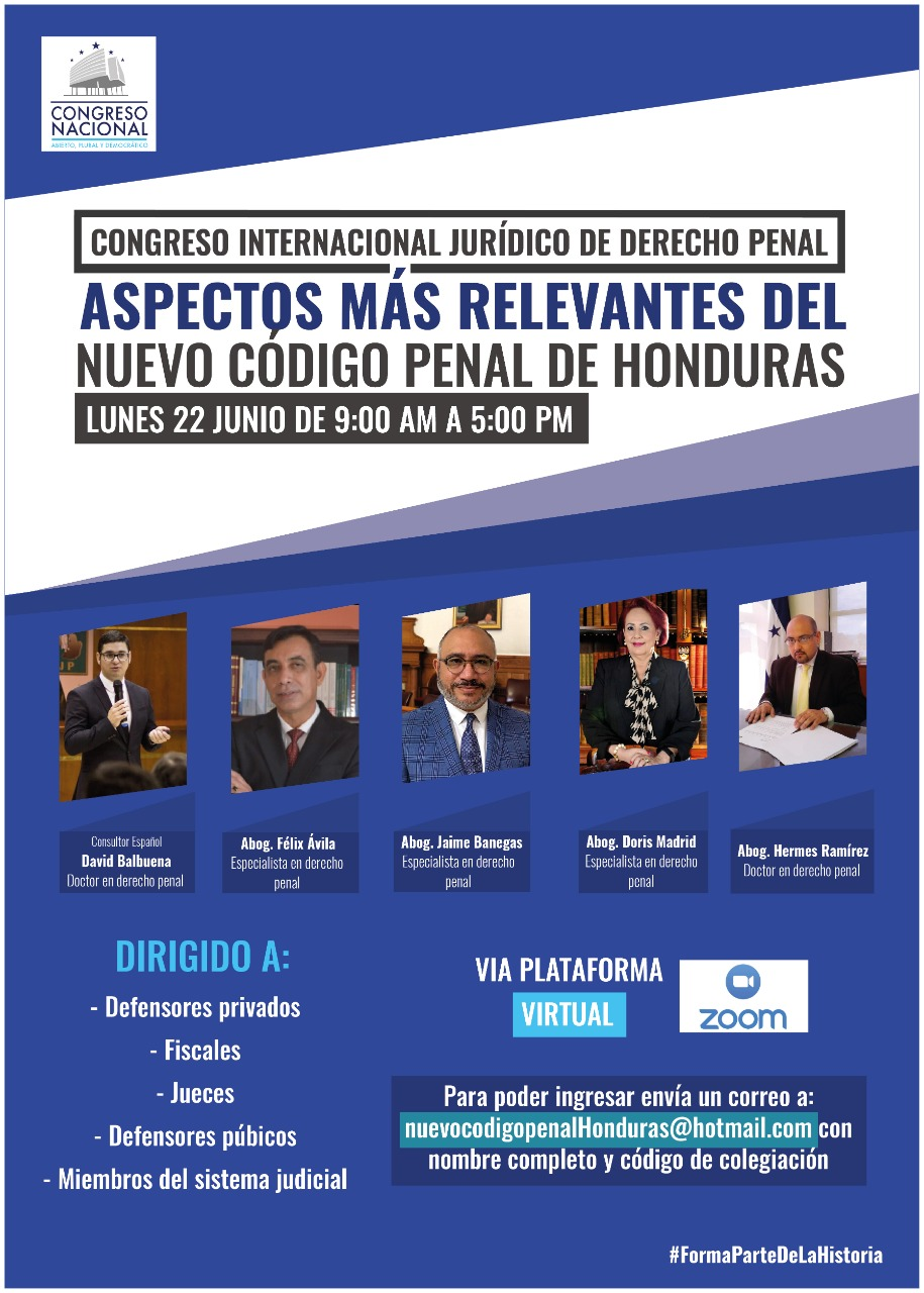 CN celebrará Congreso Internacional Jurídico sobre Derecho Penal