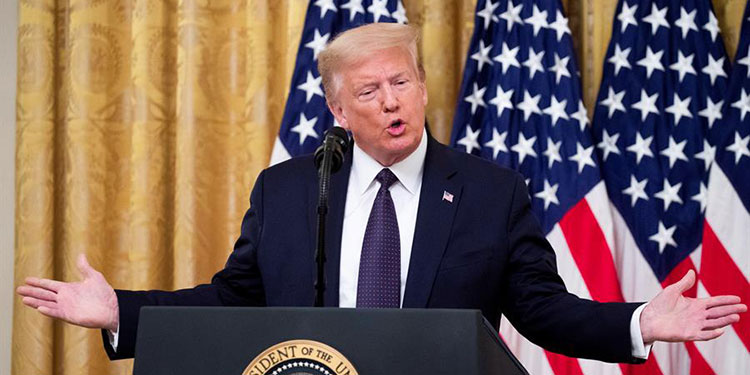 """Trump lamenta """"horrible"""" decisión del Supremo sobre DACA y pide votar por él"""