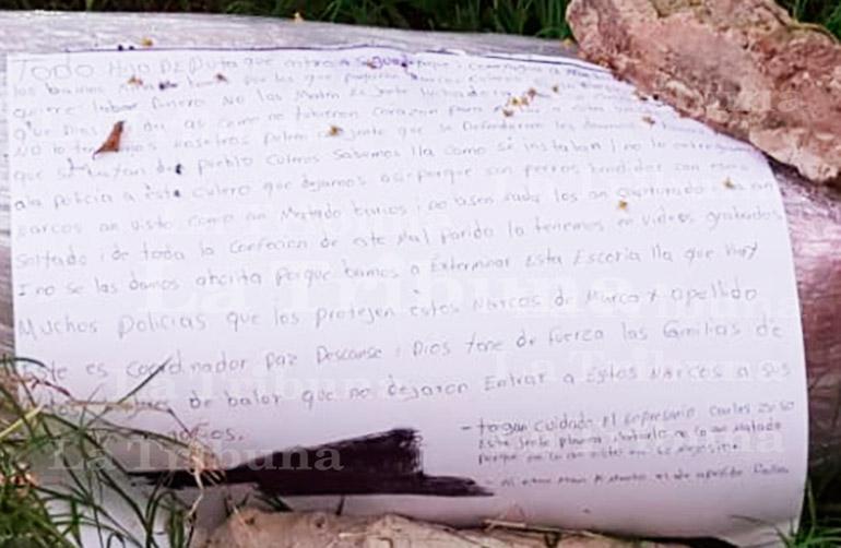 Sicario es obligado a confesar sus crímenes antes de ser decapitado en Siguatepeque (Video)