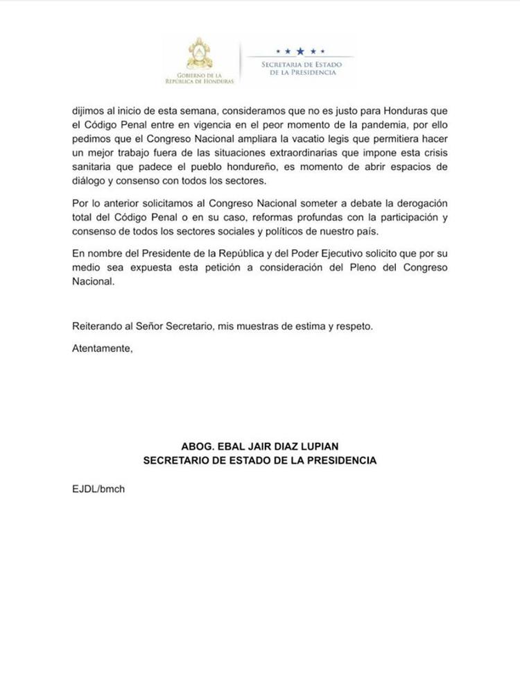 """Ministro de la Presidencia: """"Código fue sancionado bajo el acuerdo que se harían las reformas"""""""