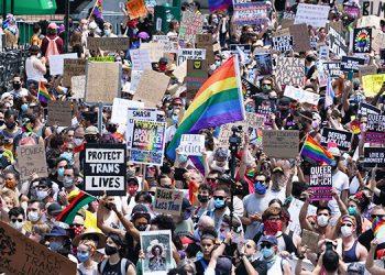 Ciudad de Nueva York celebra el día del orgullo LGBT