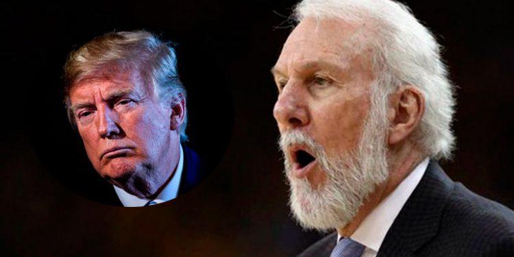"""Popovich critica falta """"liderazgo"""" de Trump y lo llama un """"idiota trastornado"""