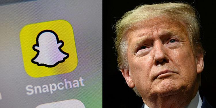 Snapchat dejó de promocionar cuenta de Donald Trump por