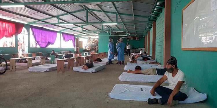 En estas condiciones es como se encuentran los internos que padecen de COVID-19 en Támara.