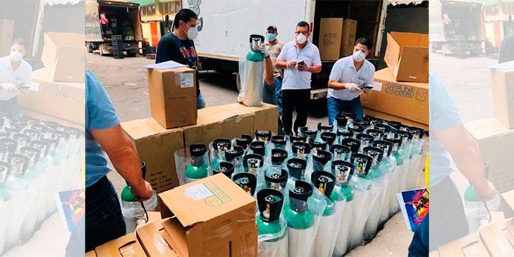 Hospital Escuela adquiere tanques de oxígeno portátil para pacientes COVID-19