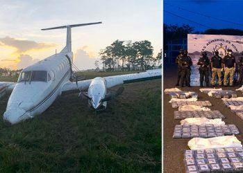 """Bajo fuego aseguran """"narcoavioneta"""" cargada con 806 kilos de cocaína (Galería)"""