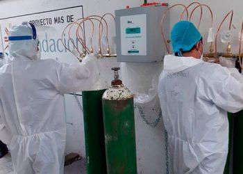 El donativo del sistema de oxígeno para enfermos COVID-19 está valorado en más de medio millón de lempiras.