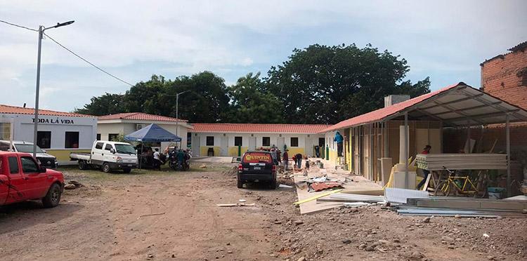 Los cubículos para la atención de pacientes ya están por ser terminados con el apoyo de la población y empresariado de Choluteca.
