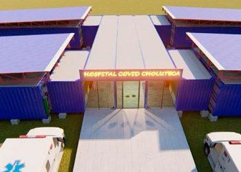 El diseño del hospital sería en base a 19 contenedores, 15 grandes y cuatro pequeños, y se armaría en 25 días.