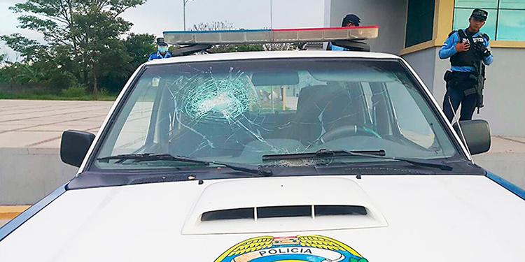 Delincuentes atacan patrulla policial en Mezapa Atlántida