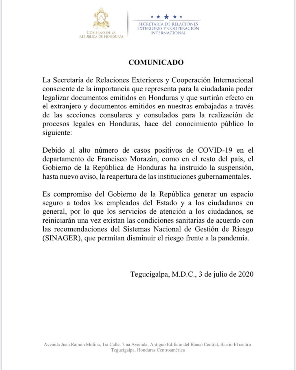Suspenden reapertura de instituciones gubernamentales por repunte de casos de COVID-19