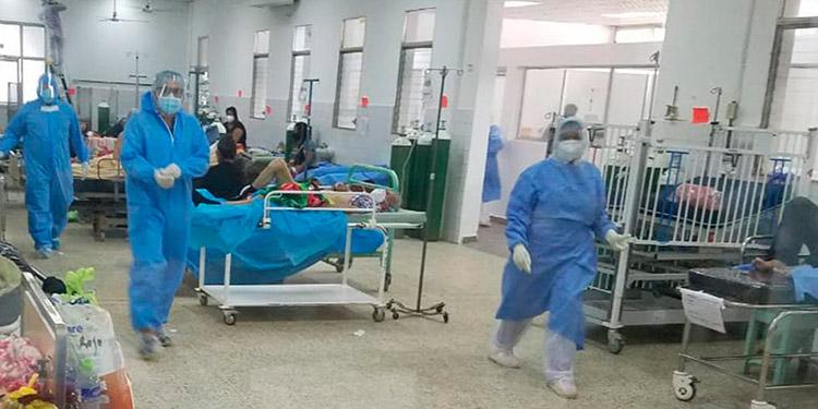 Del total de las 70 camas habilitadas todas están ocupadas en este momento en el Hospital General del Sur, en la ciudad de Choluteca.